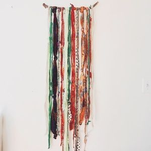 Bohemian Wall Art Instillation repurposed